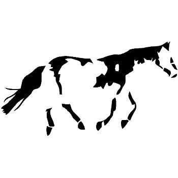 Amazoncom Quarter Horse Decal Car Truck Bumper Window Sticker -  horse graphics for trucks