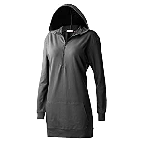 Regna X For Women Long Sleeve Pullover Funnel Neck Active Dress Black XXX-Large