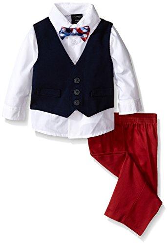 Nautica Woven Pique Vest Set