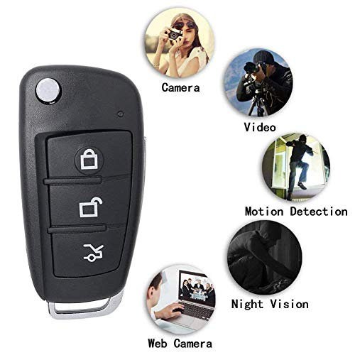 SPYCENT Car Key Hidden Spy Camera 1080P Hidden Camera Keychain