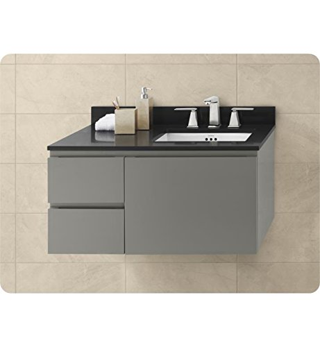 Ronbow 018936-R-E12 Slate Gray Vanessa 36'' Wall Mount Cabinet W/One Large Drawer On Right & Two Side Drawers by Ronbow