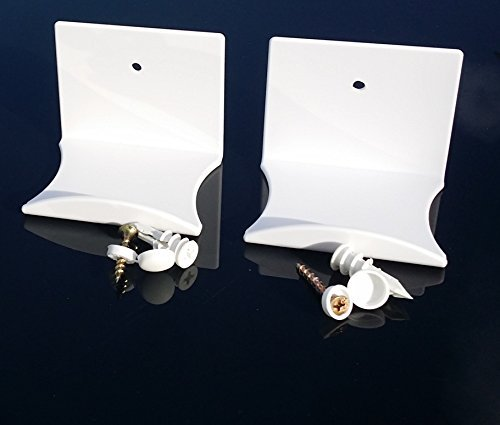 XL White Screw Mount Helmet Hook 2 PACK