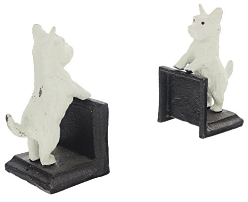 "Silver Tree 6"" Cast Iron Westie Dog Bookends"