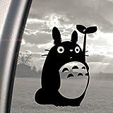 Ritrama Autocollant pour fenêtre de voiture Motif Studio Ghibli Totoro Noir