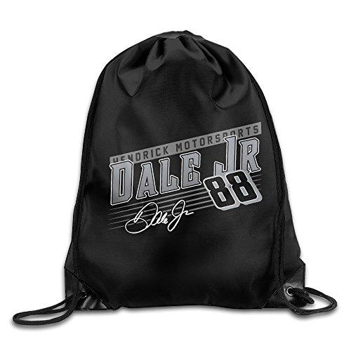Dale Earnhardt Jr Crank Shaft Drawstring Backpack Bag White ()