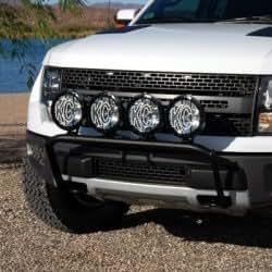 KCHilites 74281 Front Light Bar Black 4T 2012-2012 Ford F-Series Raptor
