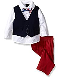 Boys' Vest Set with Pant, Shirt, and Bow Tie