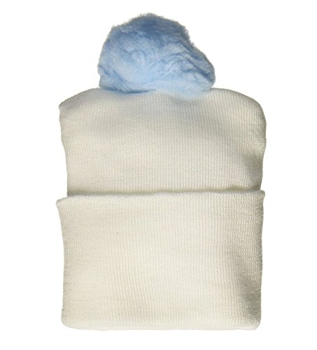 - Bird & Cronin 08142262 Comfor Knit Baby Hat with Pom Newborn Blue Pom and Booties Accessory Set