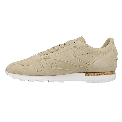 ZAPATILLA PARA HOMBRE REEBOK CL LEATHER LST oatmeal-driftwood-white