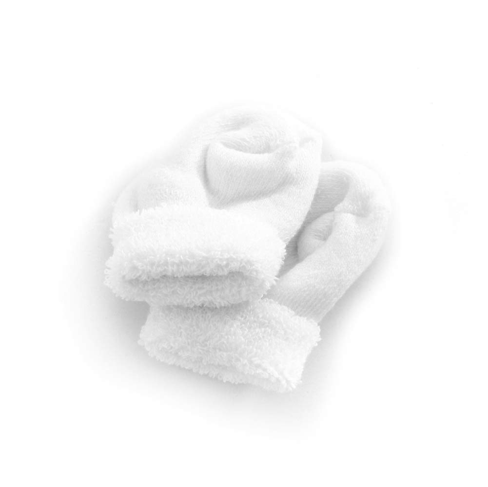 MediChoice Double Tread Slippers, Newborn, White, 1314BBT300 (Case of 48 Pairs - 96 Total) by MediChoice