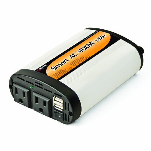 Wagan TrueRated(TM) 400 Watt 5V 2.1 Amp Continuous Power Inverter with USB Charging Ports - EL2003-5