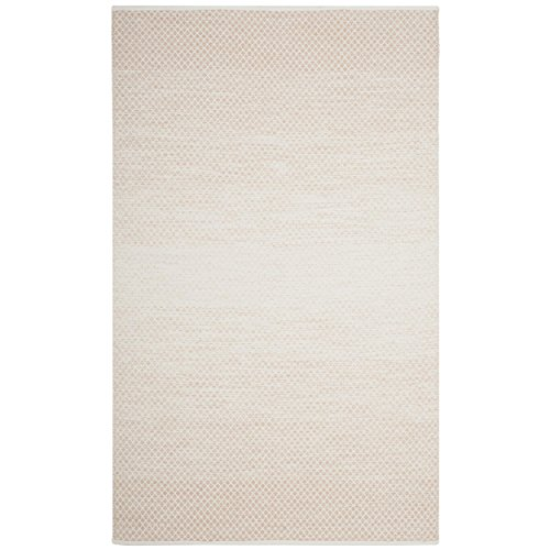 Safavieh Montauk Collection MTK601R Handmade Flatweave Beige and Ivory Cotton Area Rug (6' x ()