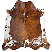 Sunshine Cowhides Brindle White Belly Cowhide Rug 5ft x 7ft 150 cm x 210cm - Top Quality