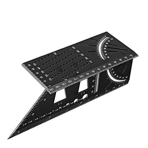 Aluminum Alloy 3D Mitre Angle Measuring Tool 45 90 Degree Angle T Ruler Marking Gauge Framing Gauge Carpenter Square Woodworking Tool