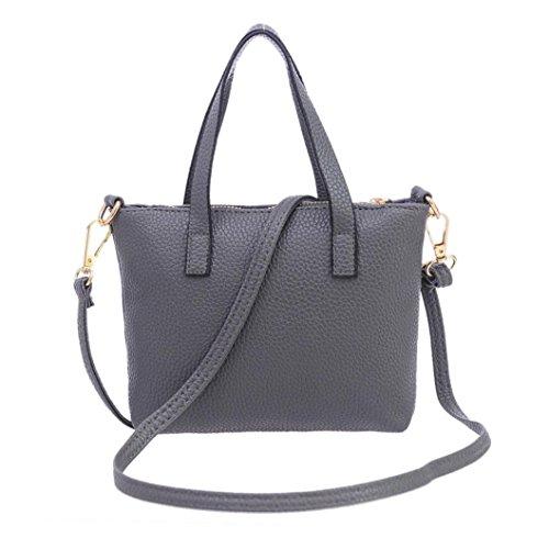 1b8f3dfb60ab Handbag On Sale,Clearance!AgrinTol Women Fashion Handbag Shoulder Bag Tote  Ladies Purse (Gray)