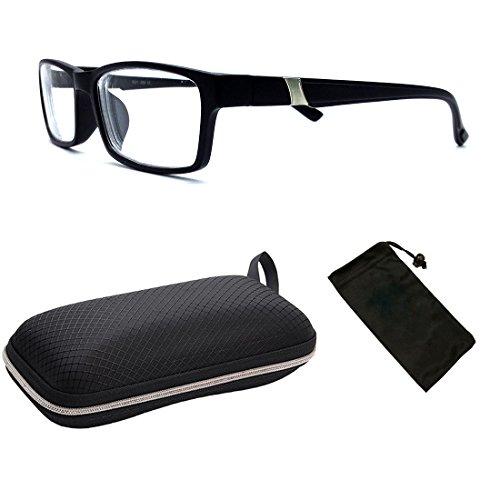 1 Pair Men&Women Unisex Myopia Eyeglasses Short Sighted+ FREE Hard Case (Eyeglasses Glasses Free Case)