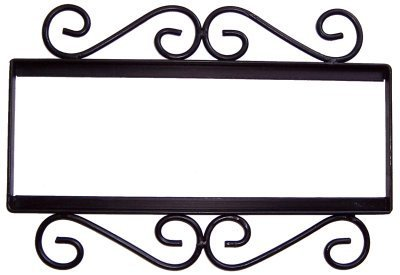 Fine Crafts Imports Wrought Iron House Number Frame Hacienda 4