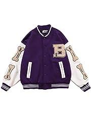 GladiolusA Heren College Jacket Baseball Sportjack Sweatjack