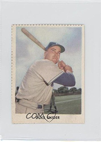 Duke Snider COMC REVIEWED Good to VG-EX (Baseball Card) 1955 Golden Stamps Brooklyn Dodgers Book Cover Cards #N/A 1955 Golden Stamp