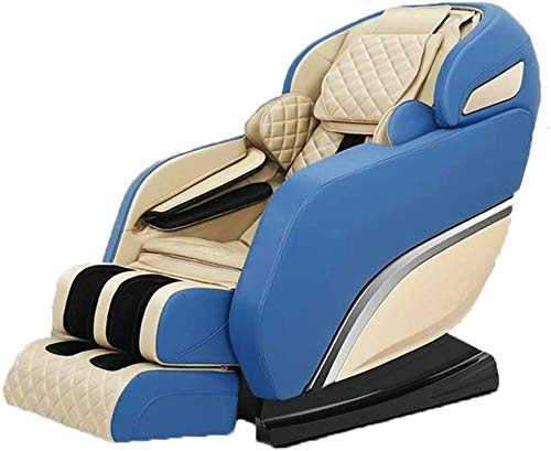 Erik Xian Massage Chair Multi-Functional Massage Chair Home Pad Relief Cervical Neck Waist Shoulder Body Pain Massager Cushion Office Chair Professional Massage and Relax Chair (Color : Blue)