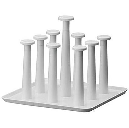 Vasos de plástico Bandeja de drenaje portavasos de drenaje accesorio de cocina estantes de almacenamiento de