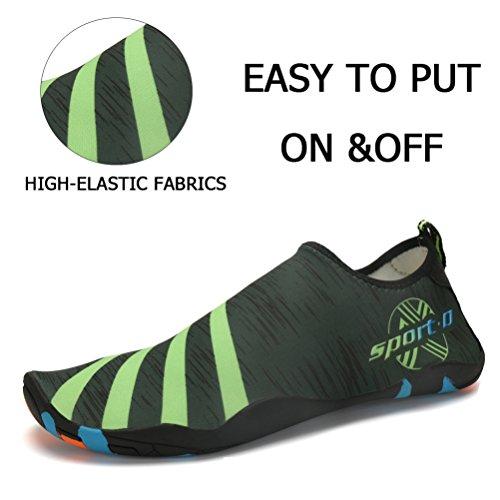 Slip Mens Yoga Dry Green On Swim Womens Quick River Barefoot Shoes Aqua Shoes Beach ASLISA Water Socks Pool for 0xAdv0q