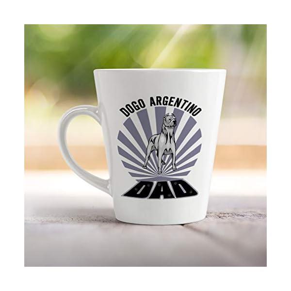 Ceramic Custom Latte Coffee Mug Cup Dad Dogo Argentino Dog Tea Cup 17 Oz Design Only 4