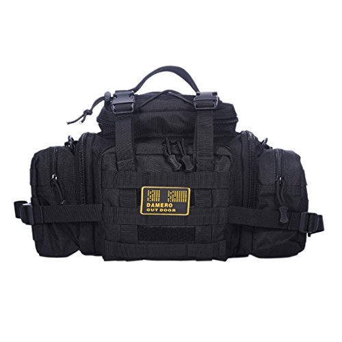 UPC 701799712371, Damero Utility Tactical Waist Pack Pouch Military Camping Hiking Outdoor Hand Waist Bag (Black)