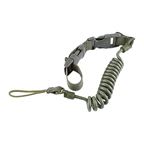 bjduck99 Tactical Elastic Quick Release Pistol Sling Spring Lanyard 150cm