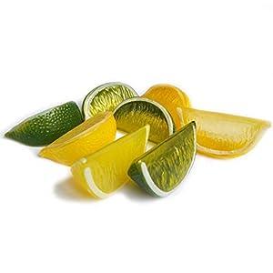 Lorigun Fake Lemon Slice Garnish Artificial Fruit Faux Food House Decoration 29