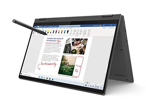 Lenovo Flex 5 14″ 2-in-1 Laptop, 14.0″ FHD (1920 x 1080) Touch Display, AMD Ryzen 5 4500U Processor, 16GB DDR4, 256GB SSD, AMD Radeon Graphics, Digital Pen Included, Win 10, 81X20005US, Graphite Grey