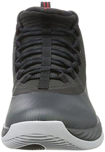 Jordan Nike Mens Ultra Fly 2 Svart / Antracit Röd Basketsko 10,5 Män Oss