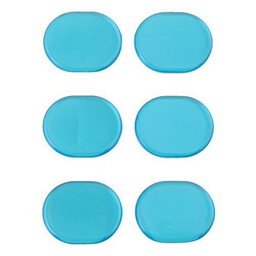 Yibuy Blue Oval Shape Silicone Mute Silencer Pads for Rock Band Drum Set of