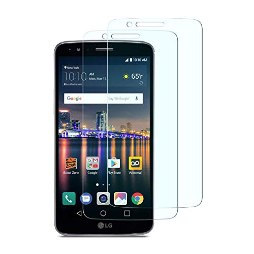 OMOTON LG Stylo 3 Screen Protector [2 Pack] Tempered Glass Screen Protector with [Scratch Proof] [High Definition] [Bubble Free] for LG Stylo 3 / LS777 / TP450 [5.7 Inch]