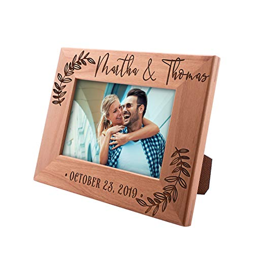(UnitedCraftSupplies Personalized Picture Frames for Couples 8x10, 5x7, 4x6 - Wedding Gifts for The Couple Engagement Gifts #5)