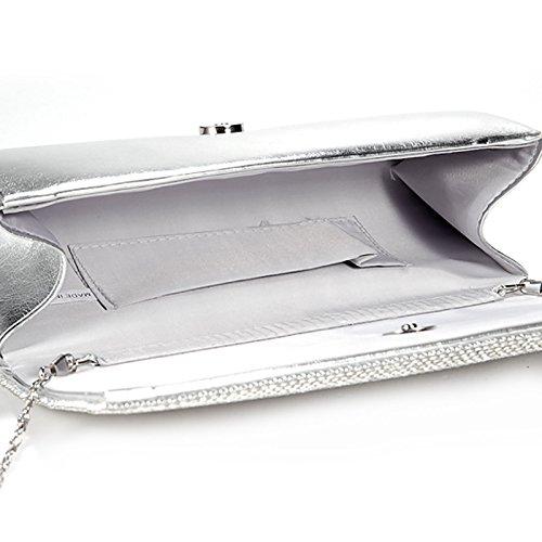 pour Craze London Silver Pochette femme R81q8O