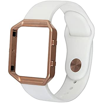 classic band for fitbit blazetorotop small soft silicone replacement sport strap band with rose gold frame for fitbit blaze smart fitness watch small