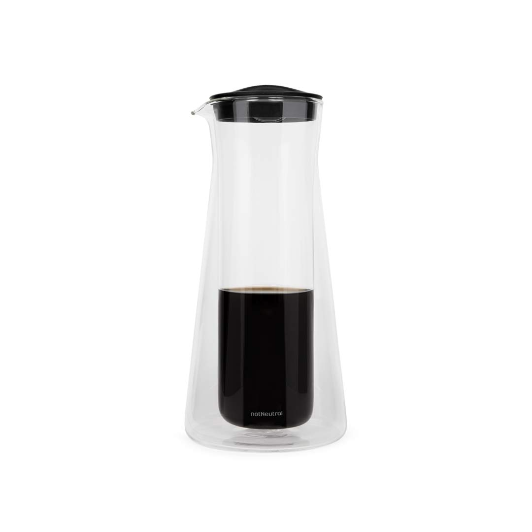 notNeutral Gino 2.5 Cup Coffee Server (20 oz) | Glass Coffee Carafe | Coffee Pot | Clear 01600100