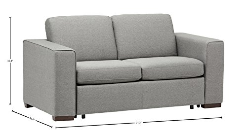 "Amazon Brand – Rivet Elliot Easy-Pull Modern Sofa Bed, 71""W, Grey -  - sofas-couches, living-room-furniture, living-room - 41pk4c6dieL -"