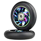 Vokul 2pcs 100mm Pro Scooter Replacement Wheels with ABEC-9 Bearings