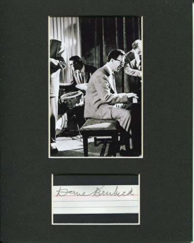 Dave Brubeck Jazz Big Band Pianist Legend Great Signed Autograph Photo Display from HollywoodMemorabilia