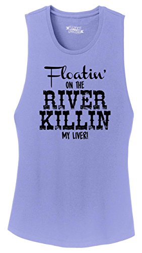Comical Shirt Ladies Festival Tank Top Floating On The River Killing My Liver True Violet 4XL (Floating Down The River Killing My Liver)