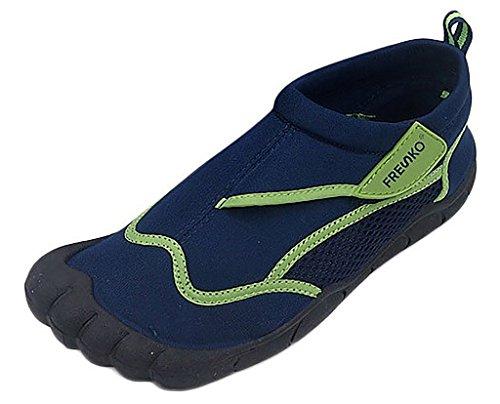 Fresko Adolescents Garçons Eau Sports Aqua Chaussures Avec Orteils, Tn1332 Marine / Citron Vert