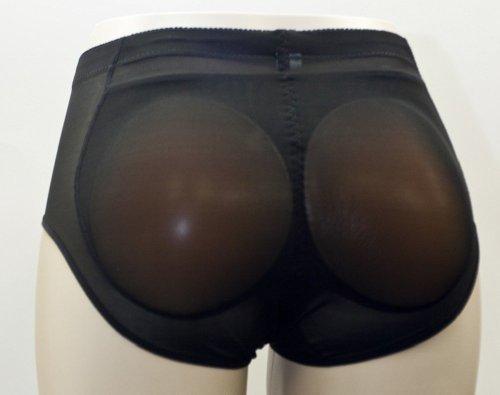 Silicone Padded Panties Brief Underwear Power Shapewear Black/beige (Medium, Beige)