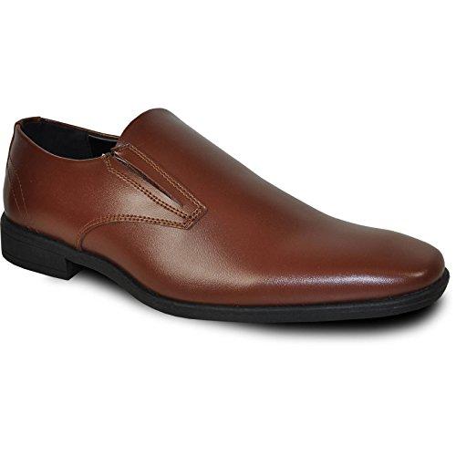VANGELO Tux-4 Dress Shoe Loafer Formal Tuxedo Prom & Wedding Shoe Brown Matte Z2pjqRJyD