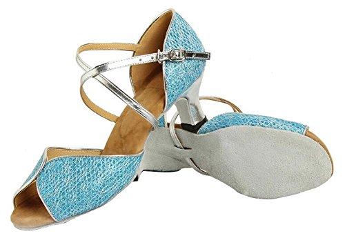 Toe Dance Peep Glitter Shoes 5 US M 6 Women's Honeystore B Wedding Blue XqT6txw