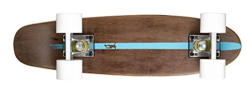 Ridge Maple Holz Mini Cruiser Number Two Dark Dye 7 Ply Wooden Skateboard Longboard, White, 55 cm, 5060427390523