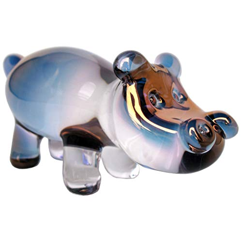 Prochaska Gallery Hand Blown Glass Hippo Hippopotomus Figurine