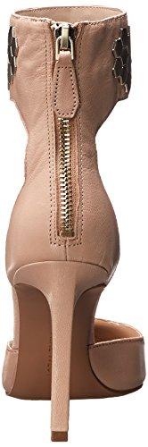 Nine West Cwercky de cuero del vestido de la sandalia Natural