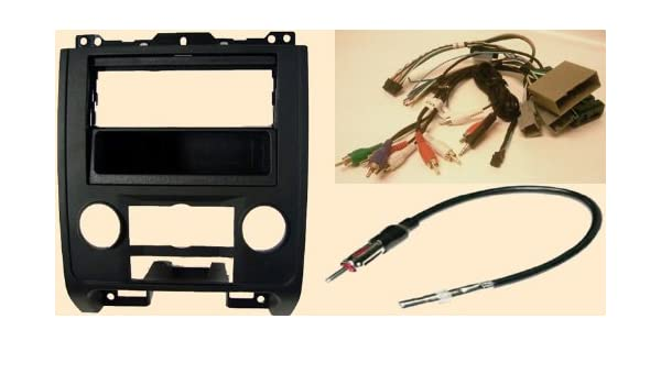 Amazon.com: Radio Stereo Install BLACK Dash Kit (single ... on 2003 ford expedition wiring harness, 2003 ford f-150 wiring harness, 2007 volkswagen jetta wiring harness, 1996 ford explorer wiring harness, 2003 ford explorer wiring harness, 2006 ford mustang wiring harness, 2010 toyota tundra wiring harness, 2004 ford mustang wiring harness, 2002 ford mustang wiring harness, 2000 ford explorer wiring harness, 2002 ford f350 wiring harness, 1998 ford taurus wiring harness, 2001 ford expedition wiring harness, 2004 ford expedition wiring harness, 1999 ford expedition wiring harness, 1997 ford explorer wiring harness, 2005 ford f250 wiring harness, 2005 chrysler crossfire wiring harness, 2003 ford taurus wiring harness, 2009 nissan murano wiring harness,